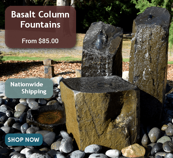 Basalt Column Fountains from $85.00 with Nationwide Shipping, Shop Now