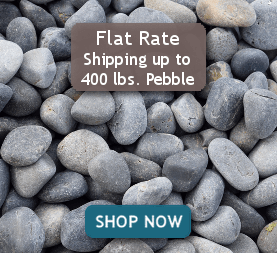 Flat Rate Shipping up to 400 lbs. Pebble